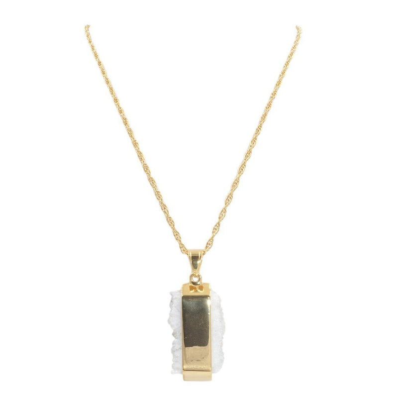 Gold Raw Quartz Necklace