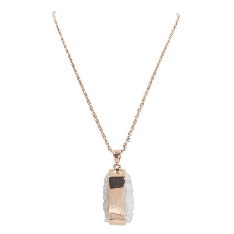 Rose Gold Raw Quartz Necklace