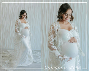Giavanna Robe {DIAMOND WHITE/SILVER}