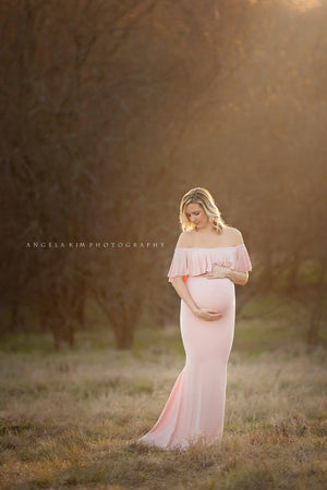 Colbie Gown-Maternity Gown-Sew Trendy Accessories