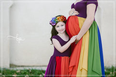 Evangeline Gown {jewel tones} •  Rainbow Baby Line • Rainbow Girls Gown • Multi-layer Chiffon Dress • Girls Hope Dress • Chiffon Gown • by Sew Trendy