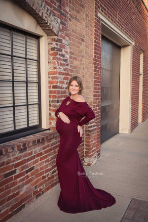 Jaden Gown-Maternity Gown-Sew Trendy Accessories