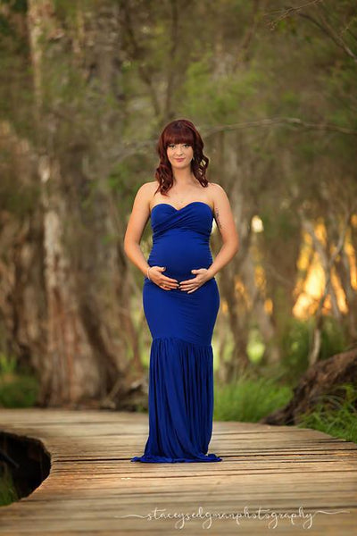 Milena Gown • Soft Knit Maternity Dress • Mermaid Style Gown • Sweetheart Maternity Gown • by Sew Trendy
