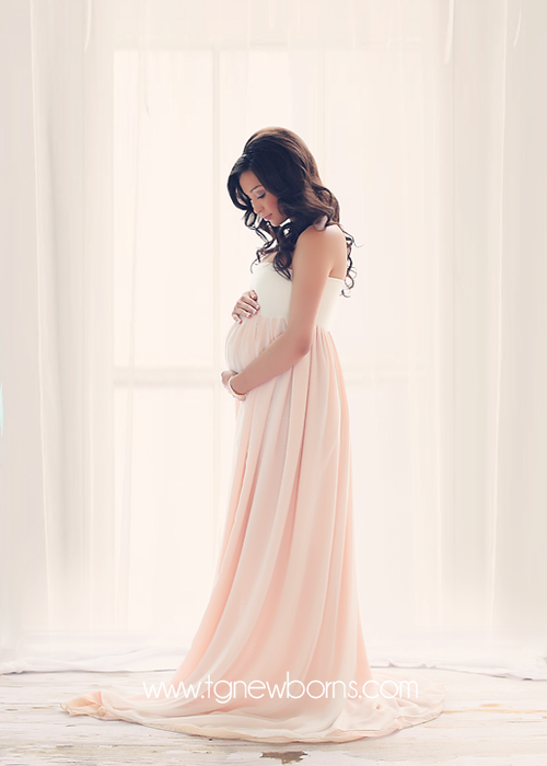 Miley Ombre Gown-Maternity Gown-Sew Trendy Accessories
