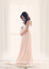 Miley Ombre Gown •  Maternity Gown • Multi-layer Chiffon Dress • Split Front Maternity Dress • Chiffon Maternity Gown • by Sew Trendy