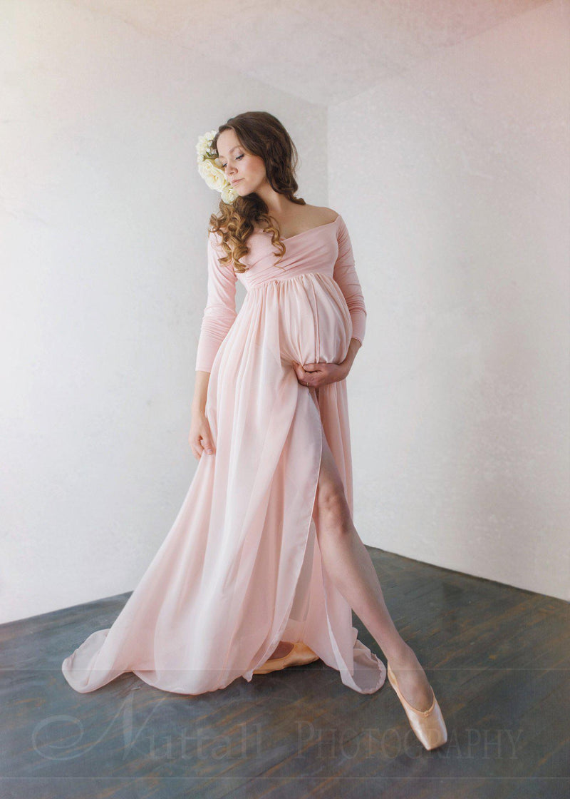 Patricia Gown-Maternity Gown-Sew Trendy Accessories
