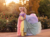 HOPE Gown {pastel tones}  Rainbow Baby Line • Rainbow Maternity Gown • Multi-layer Chiffon Dress • Maternity Dress • Chiffon Maternity Gown • Rainbow Pregnancy Gown • by Sew Trendy