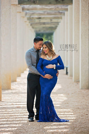 Priscilla Gown-Maternity Gown-Sew Trendy Accessories