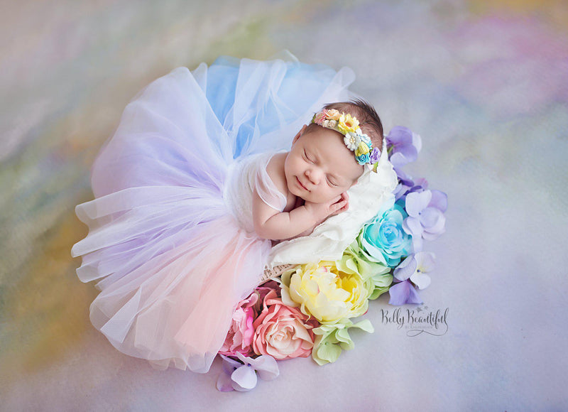 Cherish Gown • Rainbow {PASTEL TONES}-newborn dress-Sew Trendy Accessories