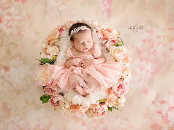 Tia Dress • Newborn Princess • Newborn Sheer Dress • Sitter Set with Bow • Adorable Newborn Gown • by Sew Trendy
