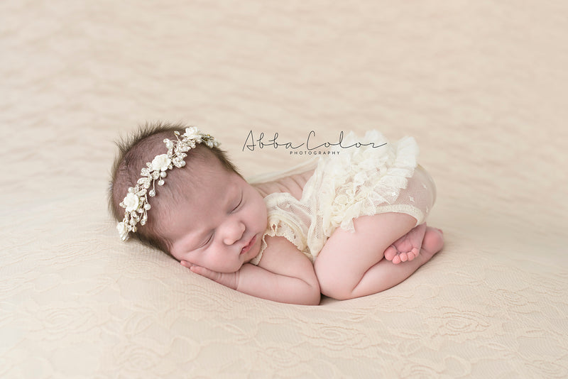 Newborn Lace Beanbag Backdrop | More Colors Available
