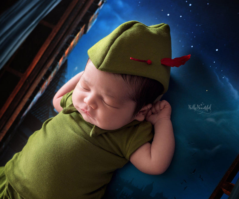 Peter Pant Set • Peter Pan Style-newborn prop-Sew Trendy Accessories