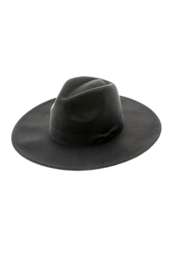 Black Wide Brim Boho Hat