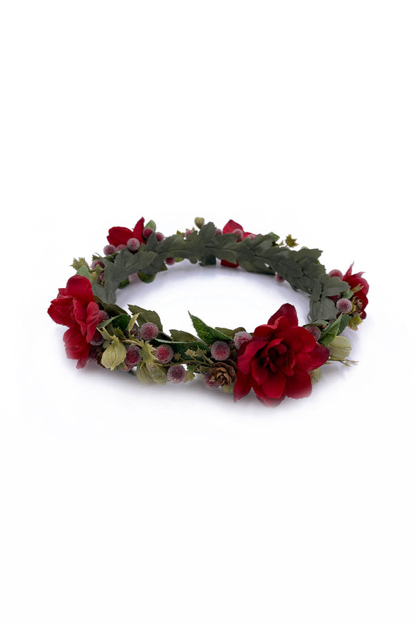 Poinsettia Flower Crown