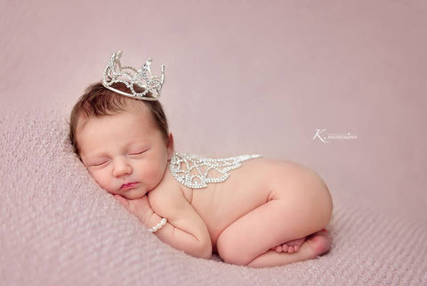 Cielle Rhinestone Baby Angel Wings • Newborn Photo Prop | READY TO SHIP • by Sew Trendy