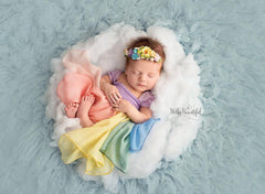 Mini Esperanza Floral Crown {pastel tones} • Rainbow Baby Line • Rainbow Floral Crown • Hope Floral Crown • Bohemian Crown • Rainbow Baby Crown | READY TO SHIP • by Sew Trendy