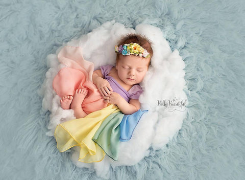 RTS: Destiny Gown Rainbow {pastel tones} Newborn Gown • Ready to Ship | by Sew Trendy