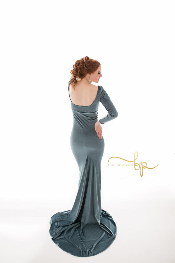 Krysten Gown in Velvet-Maternity Gown-Sew Trendy Accessories