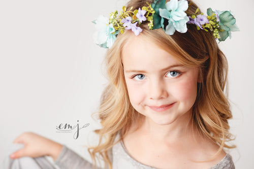 Piper Floral Crown • Organic Crown • Ivory Berrys Floral Crown • Bohemian Crown | Ready To Ship • by Sew Trendy