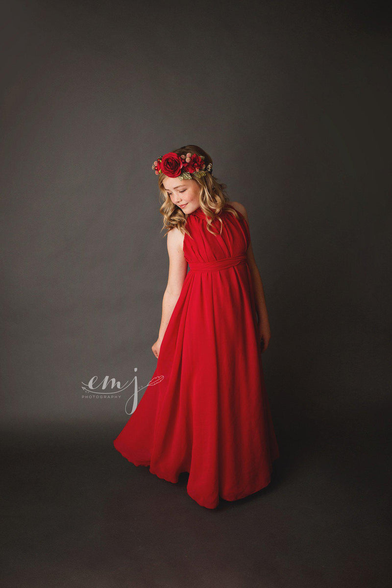 RTS | Coraline Girls Ruffle Neck Gown | Ready To Ship-RTS GIRLS-Sew Trendy Accessories