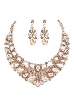 Statement Necklace and Earring Set in Topaz