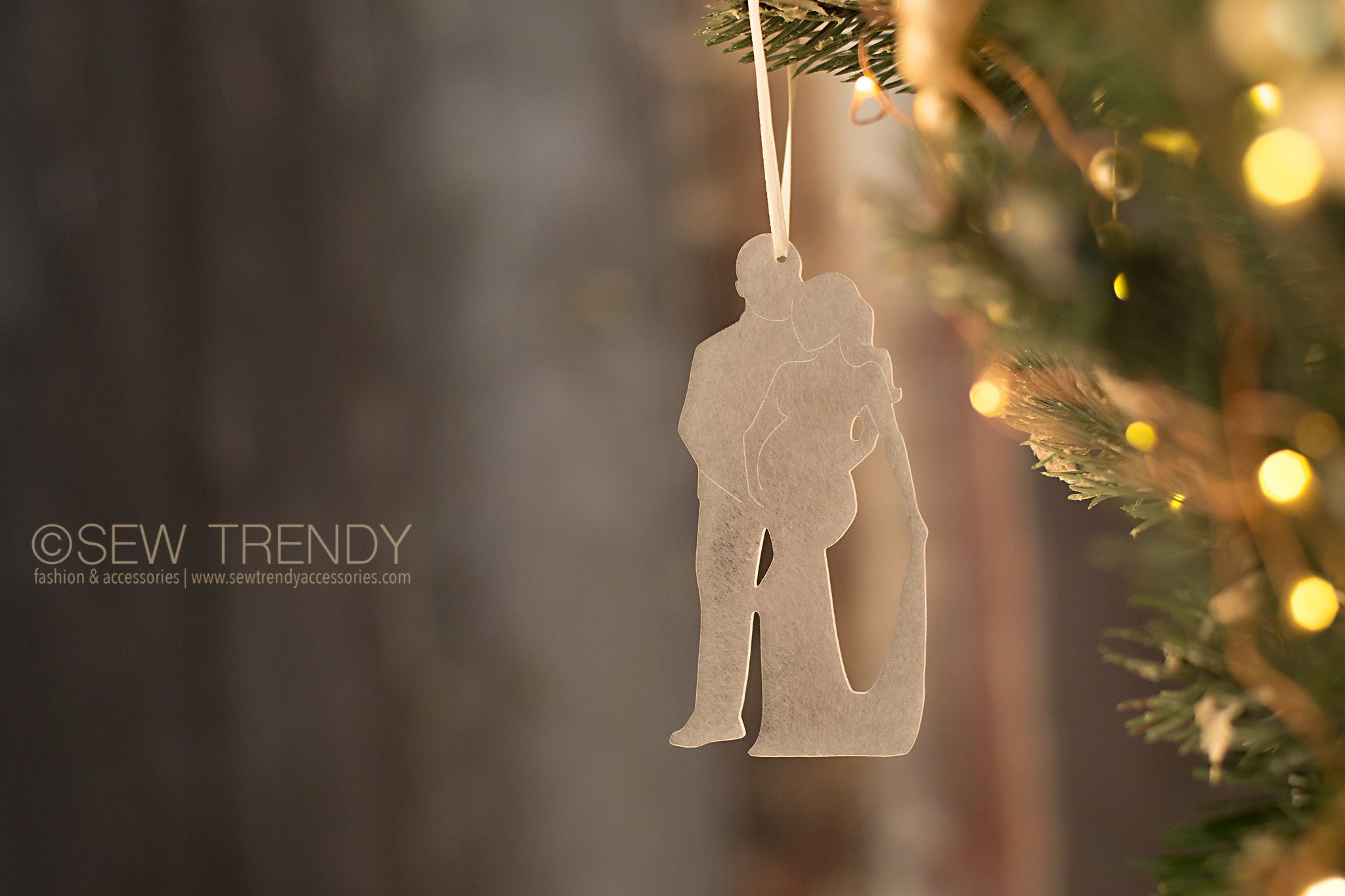 Maternity Christmas Ornament • You, Me and Baby | Sew Trendy ...