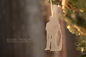 Maternity Christmas Ornament • You, Me and Baby