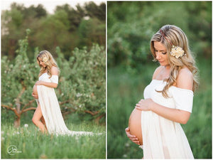 Cameron Gown-Maternity Gown-Sew Trendy Accessories
