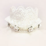 Capri Crown • Girls Newborn Lace • Lace Crown •Newborn Flower Crown • Photo Prop | Ready To Ship • by Sew Trendy