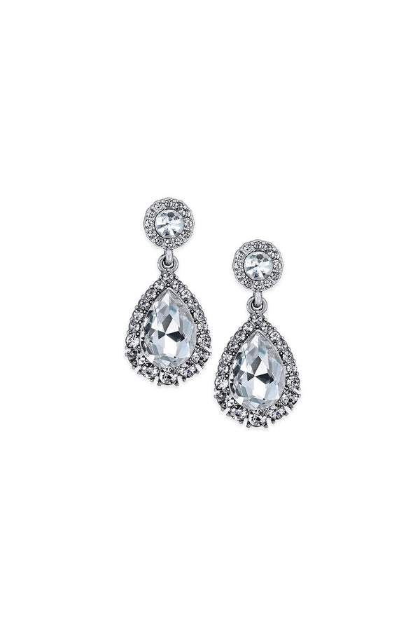 Charter Club Silver Drop Earrings