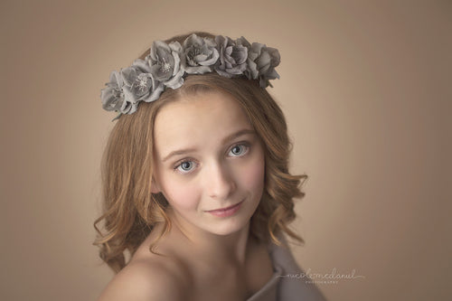 Mia Floral Crown • Organic Crown • Rosette Crown • Grapevine Crown • Wedding Headpiece • Bohemian Halo | Ready To Ship • by Sew Trendy
