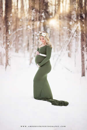 Emmery Gown-Maternity Gown-Sew Trendy Accessories
