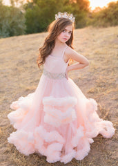 Harmony Gown • Girls Couture Gown • Girls Harmony Couture • Couture Dress • Ruffle Couture • by Sew Trendy