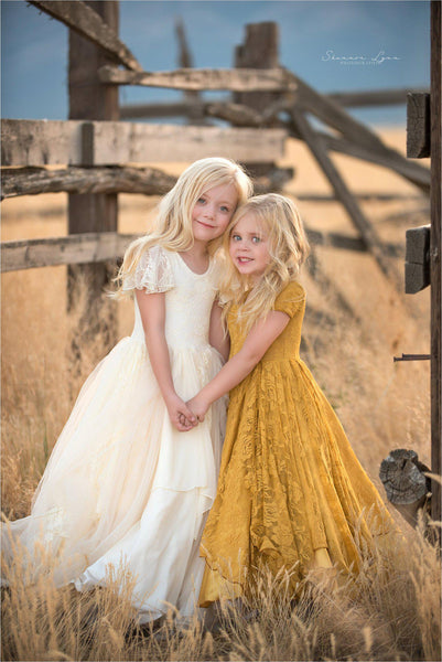 Gretel Gown • Tiered Girls Couture Gown • Girls Full Circle Gown • Layered Chiffon Gown • by Sew Trendy
