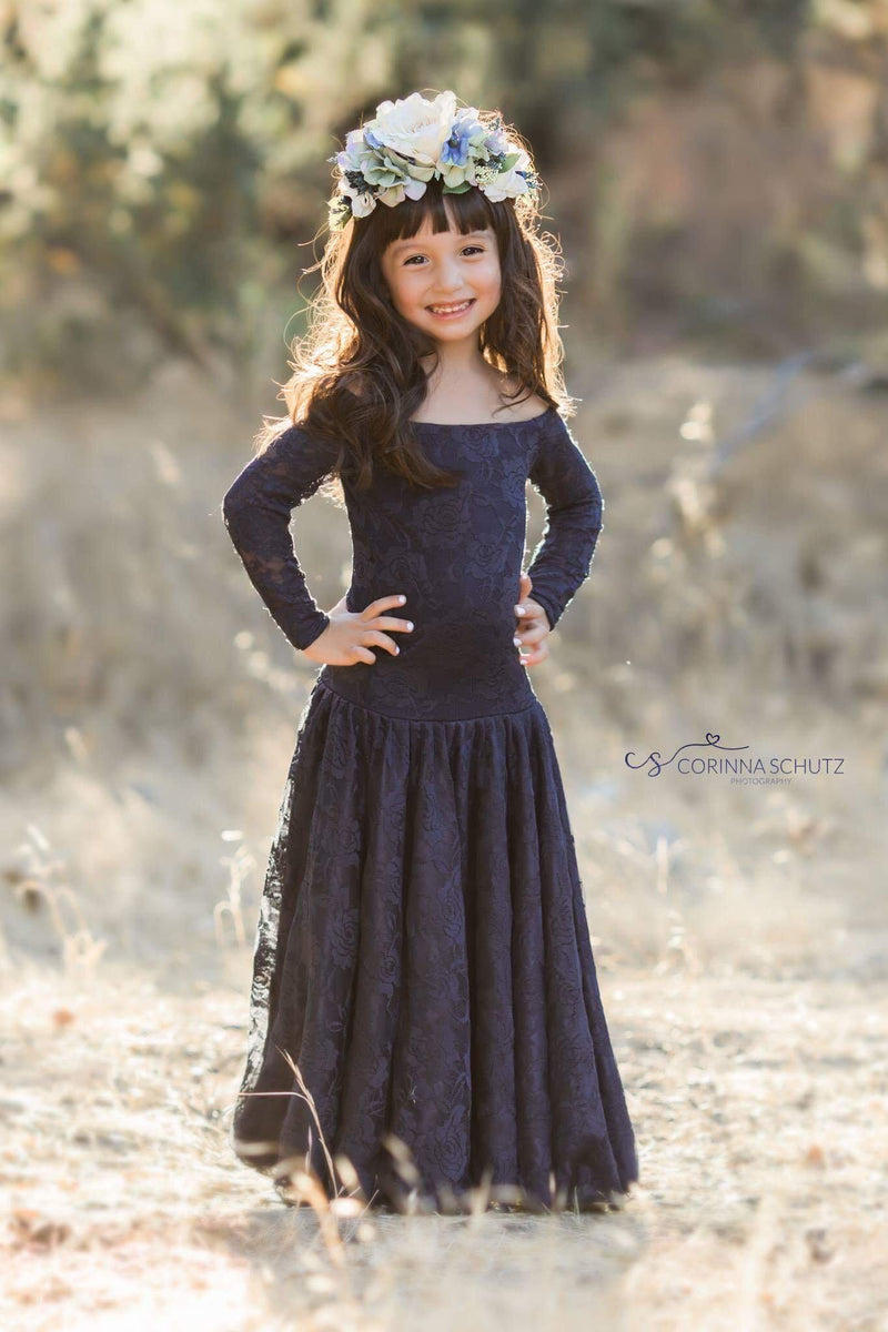 Paisley Gown-girls dresses-Sew Trendy Accessories