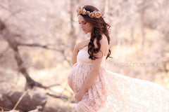 Jennifer Gown Lace Maternity Gown • Sweetheart Style Maternity Gown • Lace Dress • Bridesmaid Dress • Senior Photo Shoot • by Sew Trendy