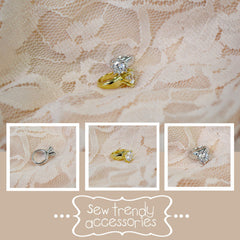 Newborn Cubic Zirconia Solitaire Ring • Baby CZ Ring • Photo Prop • Gold •Rose Gold • Silver | READY TO SHIP • by Sew Trendy
