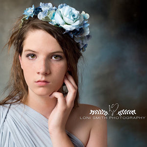 Avery Flower Crown {blue}