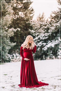 Bree Gown in Velvet-Maternity Gown-Sew Trendy Accessories