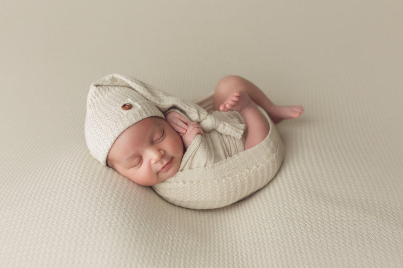 Newborn Waffle Knit Drop & Wrap Set | More Colors Available