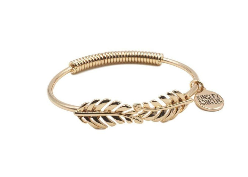Goddess Collection Laurel Leaf Gold Bracelet