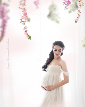 Alina Gown-Maternity Gown-Sew Trendy Accessories