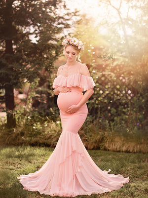Camilla Gown-Maternity Gown-Sew Trendy Accessories