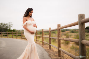 Angela Gown in Peachy Natural • Last Chance Sale