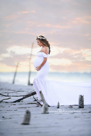 Angela Gown-Maternity Gown-Sew Trendy Accessories