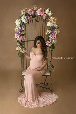 Audrey Gown-Maternity Gown-Sew Trendy Accessories
