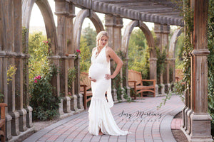 Cecily Gown-Maternity Gown-Sew Trendy Accessories