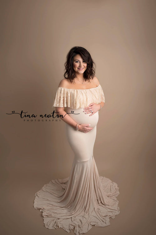 Cenna Gown-Maternity Gown-Sew Trendy Accessories