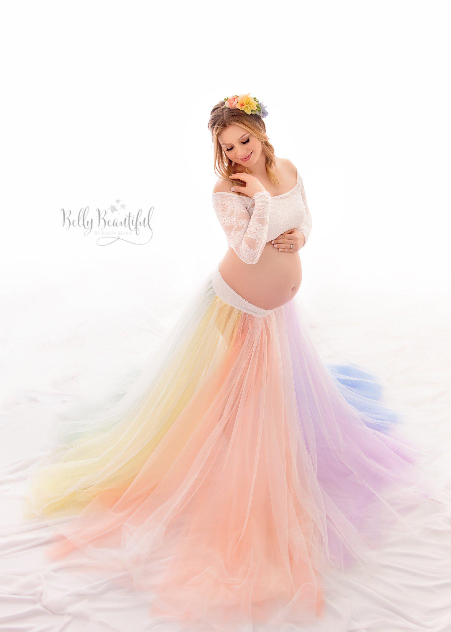 Charity Rainbow Skirt SET {PASTEL} | Sew Trendy | Maternity Gown ...