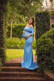 Elaine Gown • Fitted Maternity Gown • Banded Top Maternity Dress •  Maternity Dress for Photo Shoot • Photos • by Sew Trendy